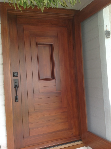 Acacia Wood Door : Update kuliouou hawaii kai  continued